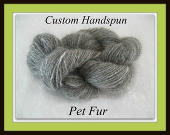 Handspun Yarn From Pet Fur ...Custom Chiengora Handspinning Service ... Dog, Rabbit, Cat ...