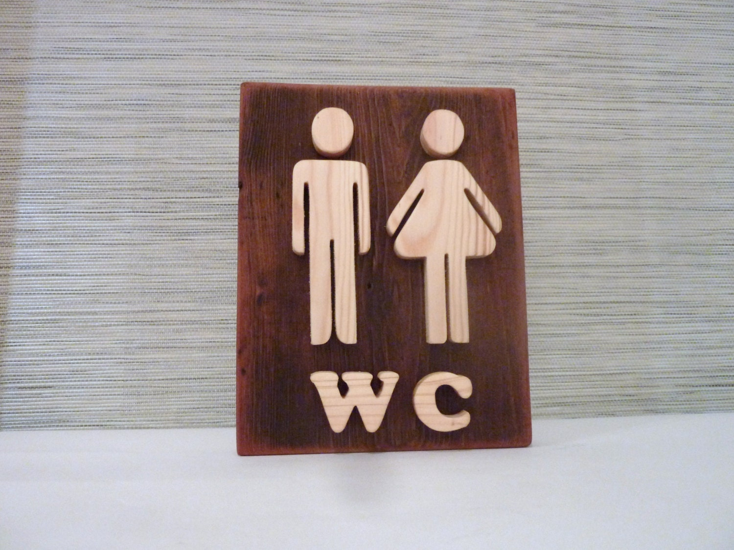 Bathroom Sign Wooden Wall Decor Restroom Sign Wood Sign - Bathroom signs for home