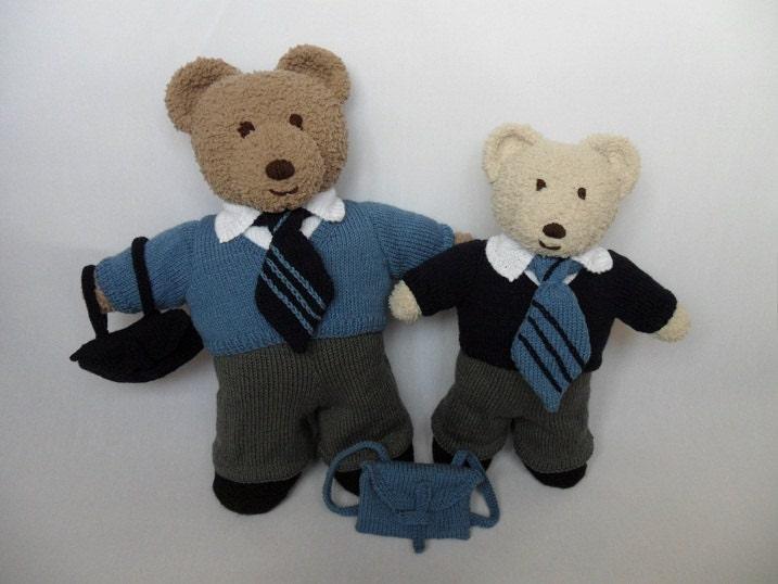 TEDDY Bear CLOTHES Boys School Uniform knitting pattern