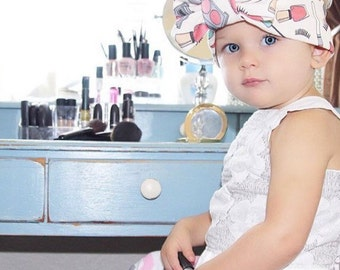 Makeup lovers big bow headband
