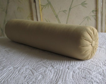 8 x 36 inch super long bolster pillow in maize cotton duck
