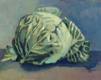 """Original, Acrylic Painting, Still Life, Two Onions, Daily Painting, Painting a Day 6"""" x 8"""""""