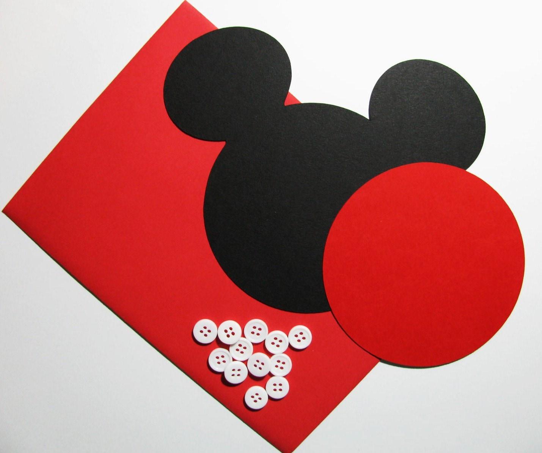 Mickey DIY Invitation Kit W Envelopes Head With