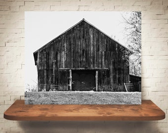 Barn Photograph - Fine Art Print - Black White Photography - Landscape Wall Art -  Farm Pictures - Farmhouse Decor - Rustic - Country Decor