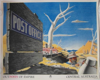 Original 1937 'Outposts Of Empire, Central Australia' GPO Poster