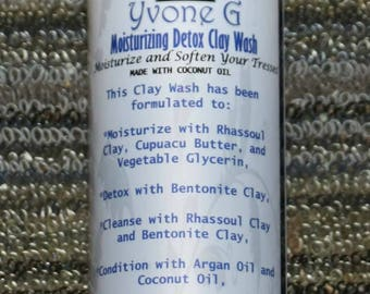 LOCAL PICKUP ONLY Moisturizing Detox Clay Wash    Hair Cleanser   Chemical Free   All Natural