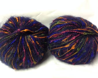 10 balls of wool mohair fancy / made in France