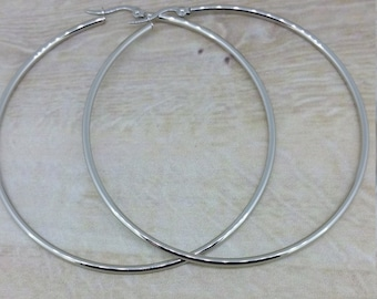 Stainless Steel Polished Hoops