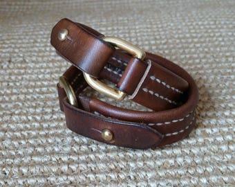 Bracelet en cuir fabriqués à la main SCKLeather