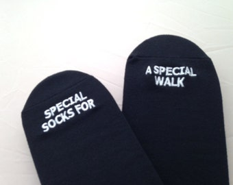 GroomSocks -Father of the Bride Wedding Socks 'Special Socks For A Special Walk' Sentimental Wedding Gift for Dad, Walking Down the Aisle
