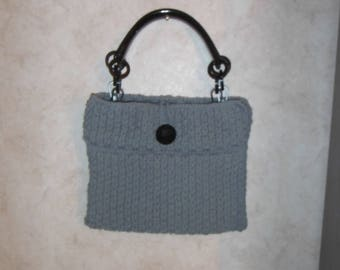 Knitted Purse Grey/Gray