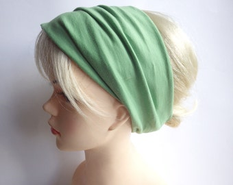 Pistachio - hair band hair bands hairband extra wide, yoga, wellness, eco, green, uni Headband, green