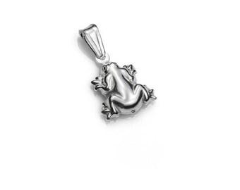 925 sterling Silver Frog Pendant