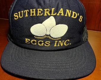 Vintage Sutherlands Eggs Inc snapback trucker hat