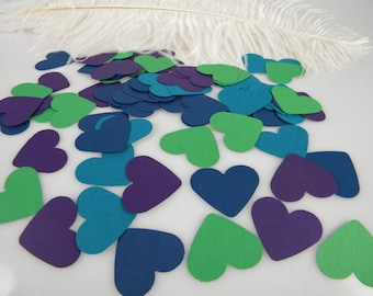 Heart Confetti Table Scatter / Peacock Wedding Heart Decorations | Table Decor | Party Decoration | Peacock Theme Event