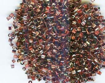 10/0 2 cut Crystal Magic Raspberry Czech Glass Seed Beads 10 gms