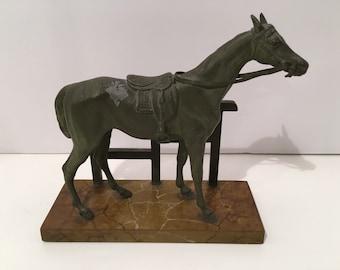 Brass Horse Figure/Statue 1930s Vintage