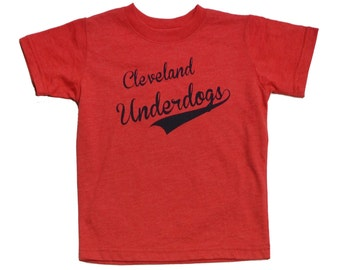 Youth and Toddler Tee - 'Cleveland Underdogs' on Vintage Red