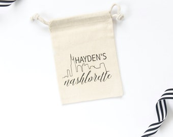 Nashlorette Bachelorette Party Favor - Bachelorette Party Favor - Bachelorette Party - Bride Favor Bag - Nashville Bachelorette - Muslin Bag