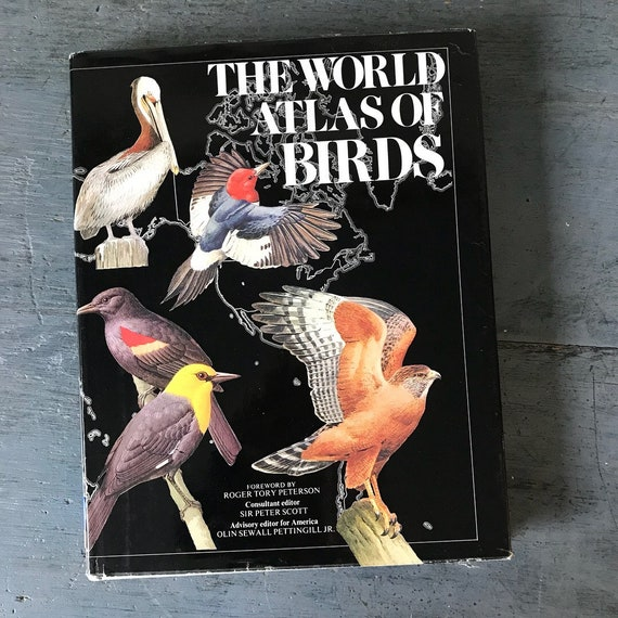 The World Atlas of Birds - ornithology avian nature book - coffee table book - first edition - 1974