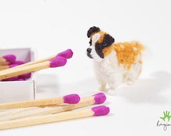 Mini Saint bernard crochet, tiny crochet St. Bernard, amigurumi dog