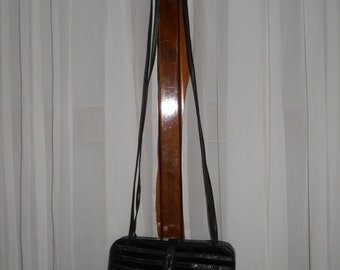 Authentic vintage Mazzini bag ! Velvet and genuine leather !
