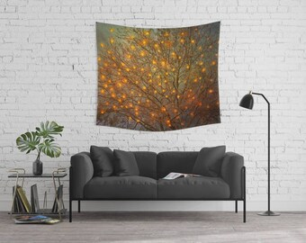 woodland wall tapestry, large size wall art, wall decor, photo tapestry, forest, nature, surreal, bohemian, wanderlust