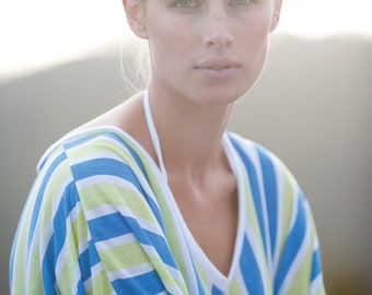 Green / Blue Twilight Bonfire Kaftan