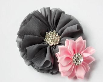 Dog collar flower, Gray Dog flower, dog wedding, collar Flower, Wedding Dog Flowers, Bows for Dogs, Dog Bows, Pet flower, Wedding dog bow