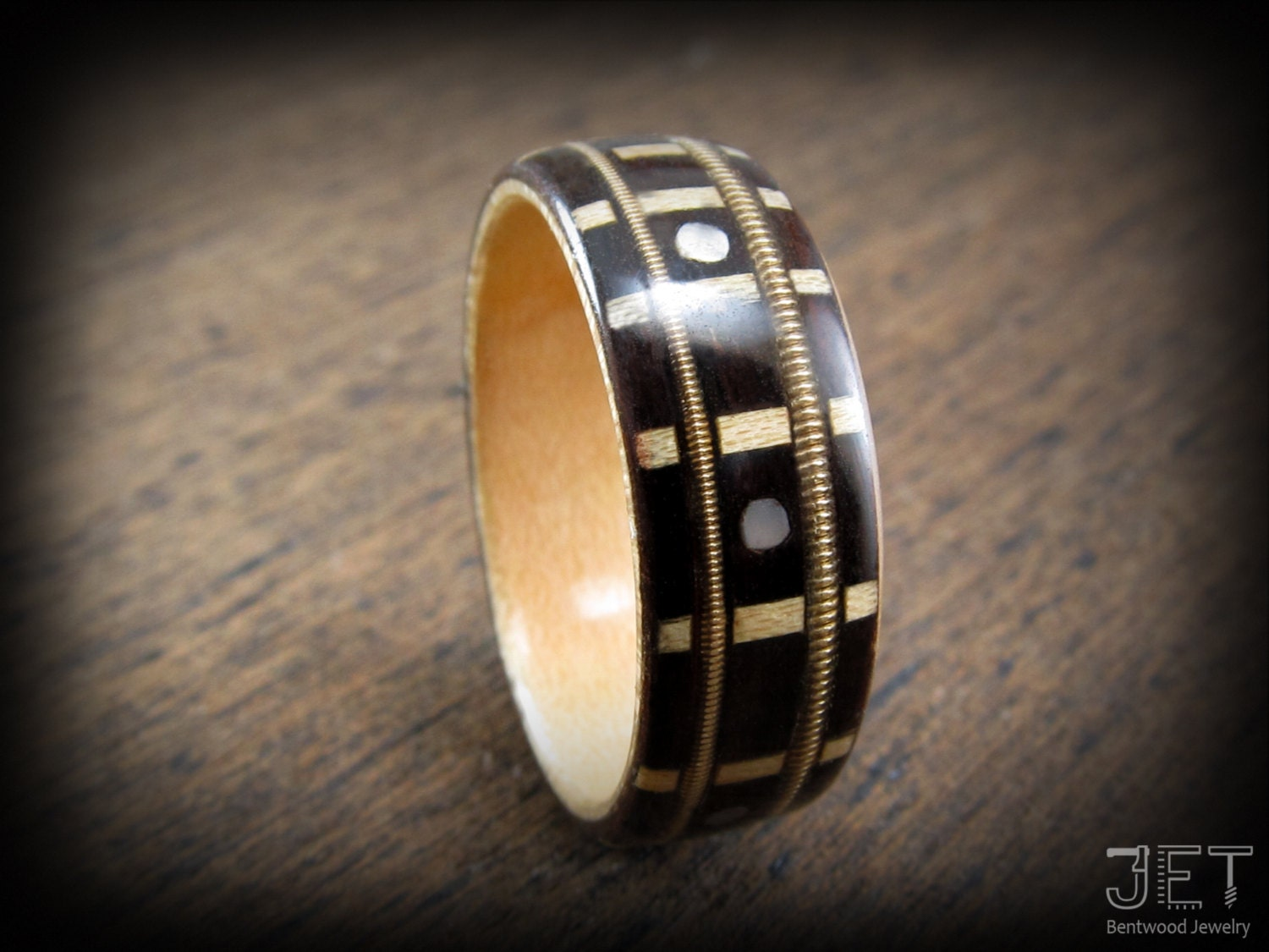 wedding for bands method rings uk stone wood bent bentwood crushed with inlay wooden