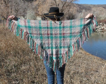 Hand Woven 5 foot Shawl Scarf Western Wear Bohemian