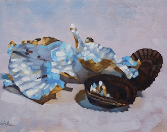 "Contemporary Still Life Painting of Chocolate Wrappers, Original Fine Art, Oil Painting on Paper - ""All That Remains"""
