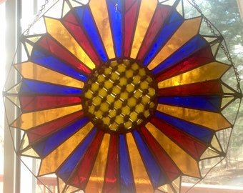 3D Stained Glass - Sunflower