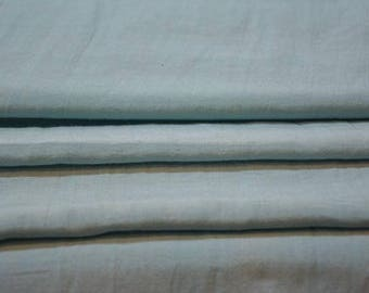 Sea Blue Cotton Silk Blend Fabric