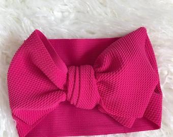 Pink stretch wrap