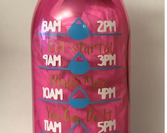 "Water Bottle ""Dont' wish for it, Work for it"""
