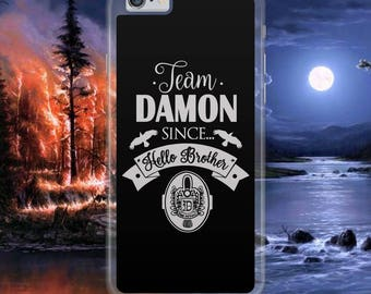 Vampire Diaries Damon Salvatore Team Ian Somerhalder Cool Hard Plastic Phone Case Cover For iPhone & Samsung Models Tracked Fast Postage