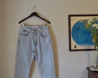 Vintage Express Bleus Mom Jeans Light Wash Denim Size Medium Large
