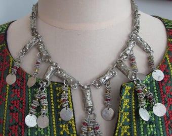 Vintage Bulgarian Silver Filigree Necklace Ottoman Empire