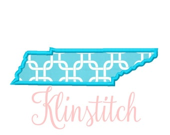 50% Sale!! Tennessee State Applique Designs 9 Sizes Embroidery Designs USA State Outline Embroidery PES Embroidery Designs