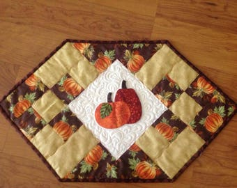 Fall Quilted Table Runner w/ Applique