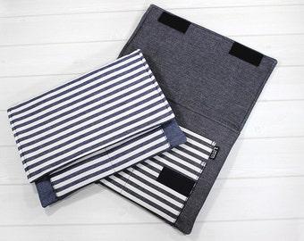 Laptop case, Macbook sleeve, Macbook Air sleeve, Macbook case 12 inch, denim, 11 inch laptop case, stripe, Lenovo Yoga case, gift idea