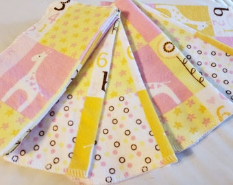 CLEARANCE, LITTLE CUTIE, Cloth Baby Wipes, Set of 12