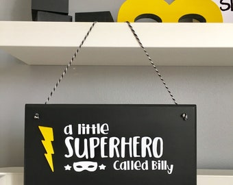 Superhero Hanging Wall Plaque