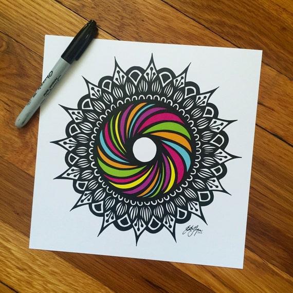Zentangle - Rainbow Swirl