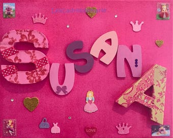 Room decoration custom to your kids name
