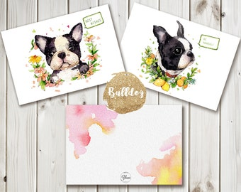 Bulldog Postcards Set (2pic)