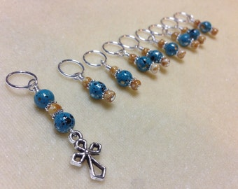 Cross Stitch Marker Set, Snag Free Knitting Markers, Gift for Knitters