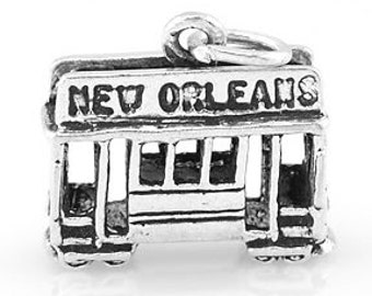 Sterling Silver New Orleans Cable Charm (3d Charm)