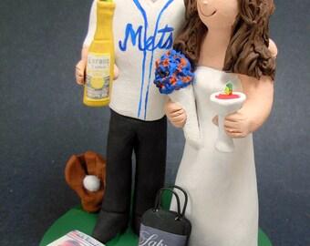 New York Mets Baseball Wedding Cake Topper, Baseball Team Wedding Cake Topper, Mets Jersey Wedding Cake Topper, Baseball Wedding CakeTopper